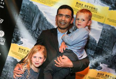 siddharth sharma in  Global non-profit Beyond Type 1's Bike Beyond premiere at the Landmark Theater