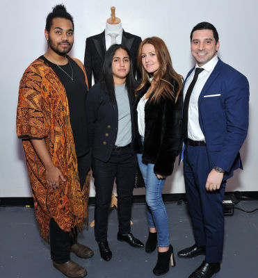 melitza delmarco in Baynes + Baker King Leo menswear collection launch with Nate Burleson