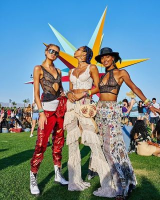 jasmine tookes in Squad Goals: The Hottest Girl Gangs At Coachella 2018