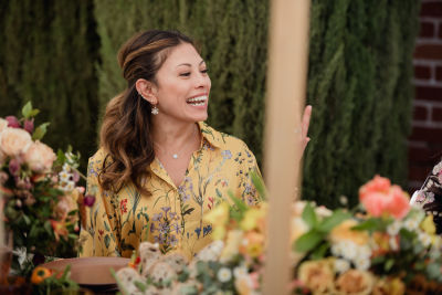 leslie birnbaum in Katia Francesconi of The Francesconi-Tisch Charitable Fund and Erica Pelosini host an Earth Day Picnic