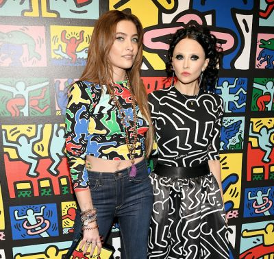Paris Jackson & Nicky Hilton Toast Alice + Olivia's New Keith Haring Collection