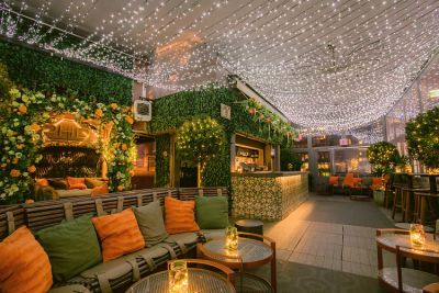 PHD Terrace Has Been Transformed Into A Midwinter Dream, Complete With Mistletoe Bar