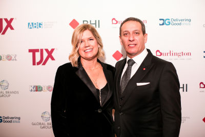 gabriel hamani-and-wife in Delivering Good 2018 Annual Gala