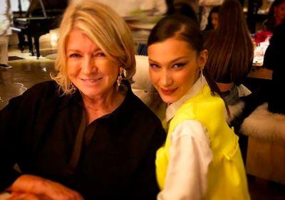 bella hadid in Did Martha Stewart & Bella Hadid Just Have Dinner Together?
