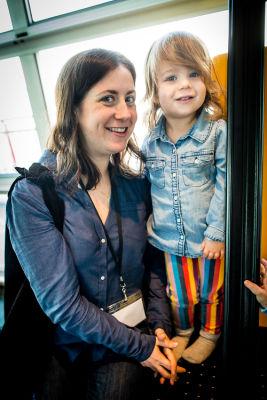 sara friedlander-and-daughter in Children's Museum of Manhattan Sunday Funday