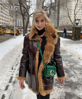 xenia adonts in The Best Snowy Street Style Moments During NYFW