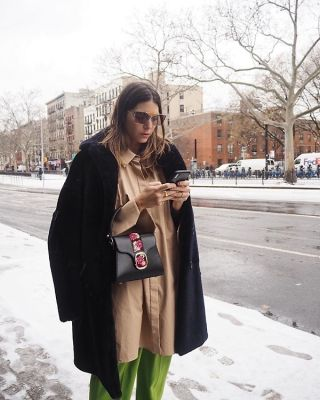 jen wonders in The Best Snowy Street Style Moments During NYFW