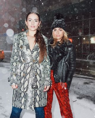 charlotte bickley in The Best Snowy Street Style Moments During NYFW