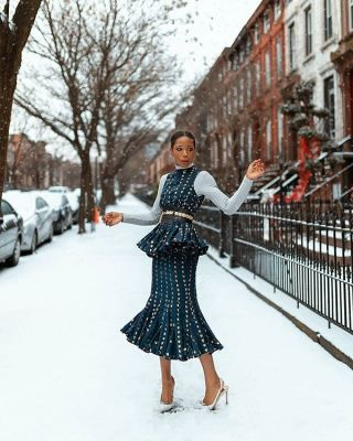 opal stewart in The Best Snowy Street Style Moments During NYFW