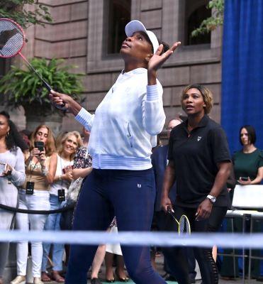 Venus, Serena & Rafa Nadal Celebrate The U.S. Open With Badminton At The New York Palace