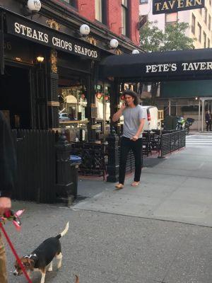 Adam Neumann Barefoot In NYC