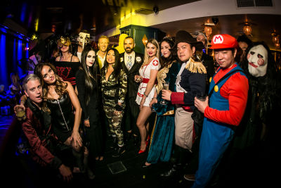 olya falls in Jon Harari Annual Halloween Party