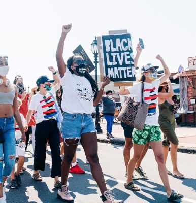 raya oneal in A-Listers Join Montauk's Love At The End March For Black Lives Matter