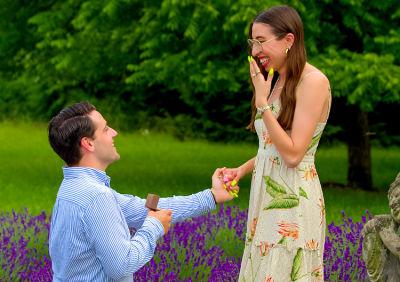 caroline vazzana in Inside Caroline Vazzana's Magical Lavender Field Engagement