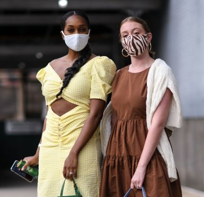 The Chicest Street Style #Maskfits Of New York Fashion Week
