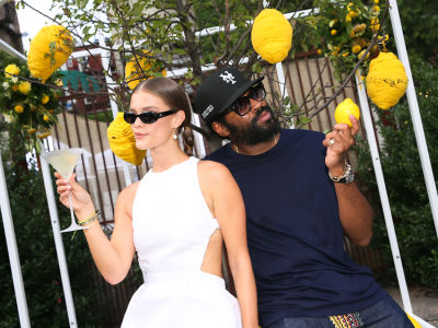 Nina Agdal, Maxwell Osborne & More Toast To Nature At The Belvedere Greenhouses
