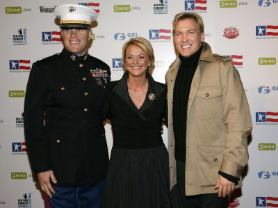 Captain Chris Ayers, Renee Ayers, and a guest
