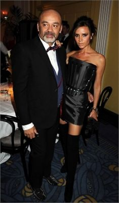 Christian Louboutin and Victoria Beckham