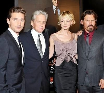 Shia LeBeouf, Michael Douglas, Carey Mulligan and Josh Brolin