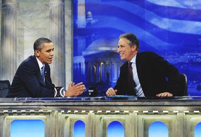President Obama, Jon Stewart