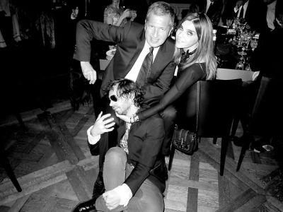 Olivier Zahm, Mario Testino and Carine Roitfeld