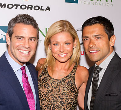 Andy Cohen, Kelly Ripa, Mark Conseulos