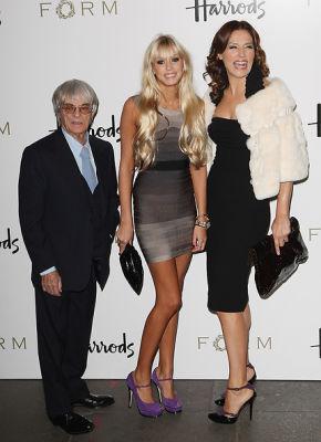 Bernie Ecclestone, Petra Ecclestone, Slavica Ecclestone