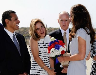 Antonio Villaraigosa, Anne Gust, Jerry Brown, Kate Middleton