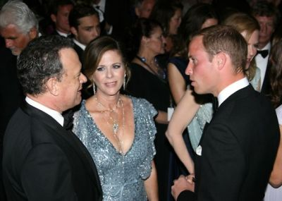 Tom Hanks, Rita Wilson, Prince William
