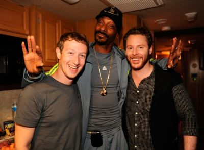 Mark Zuckerberg, Snoop Dog, Sean Parker
