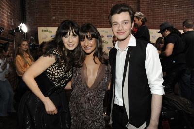 Zooey Deschanel, Lea Michele, Chris Colfer
