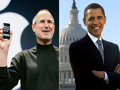 Steve Jobs and Barack Obama