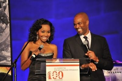 co-hosts-cynne-simpson-and-chris-spencer-uscri-100th-anniversary-gala-october-19-2011