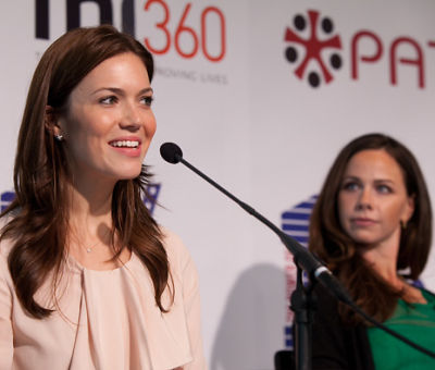 Mandy Moore and Barbara Bush