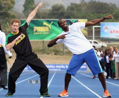 Prince Harry, Usain Bolt