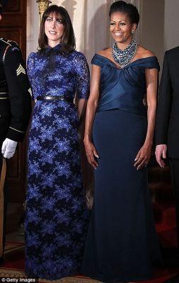Blue dresses state dinner