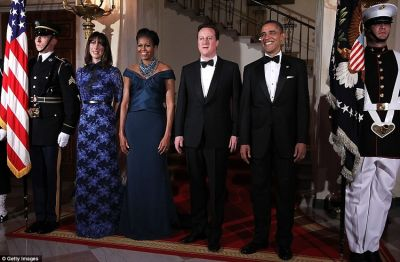 Samantha Cameron Michelle Obama David Barack
