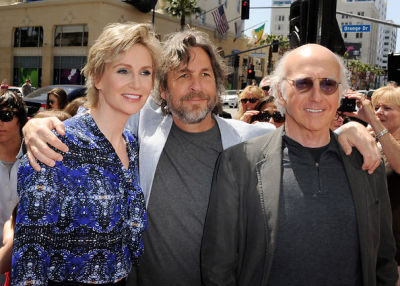 Jane Lynch, Peter Farrelly, Larry David