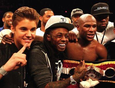 Justin Bieber, Lil Wayne, Floyd Mayweather Jr., 50 Cent