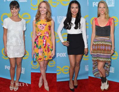 Lea Michele, Jayma Mays, Naya Rivera, Heather Morris