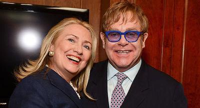 Hillary Clinton, Elton John