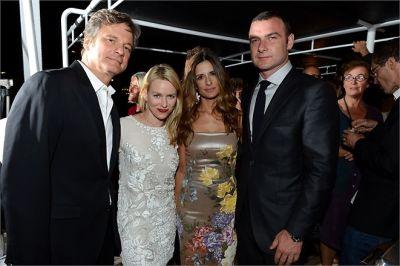 Colin Firth, Naomi Watts, Livia Firth, Liev Schreiber