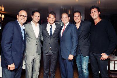 Paul Annacone, Severin Lüthi, Roger Federer, Tony Godsick, Stéphane Vivier, Nick Annacone