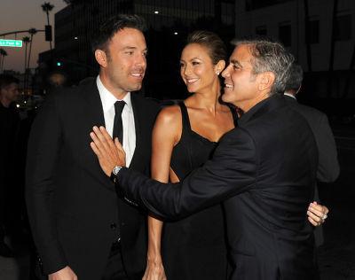 Ben Affleck, Stacy Keibler, George Clooney