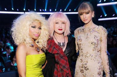 Nicki Minaj, Cyndi Lauper, Taylor Swift