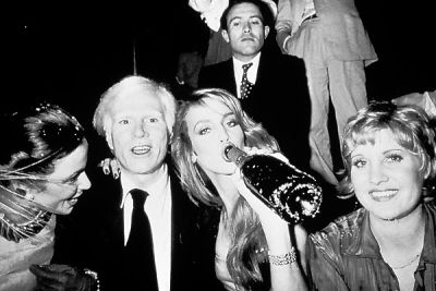 Bianca Jagger, Andy Warhol, Jerry Hall