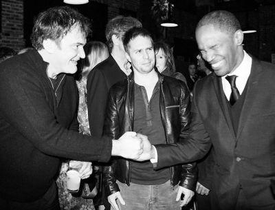 Quentin Tarantino, Sam Rockwell, Jamie Foxx