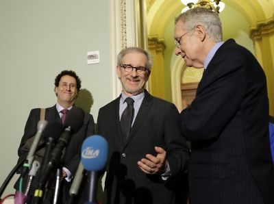 Tony Kushner, Steven Spielberg, Harry Reid