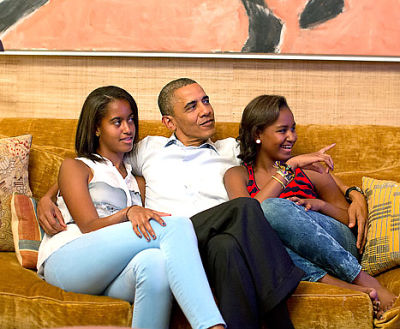 Malia Obama, Barack Obama, Sasha Obama
