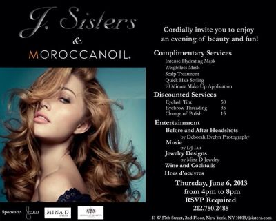 J Sisters, Morrocan Oil & Mina D Jewelry Eveing of Beauty